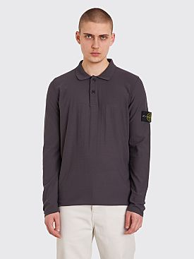 Stone Island Knitted LS Polo Grey