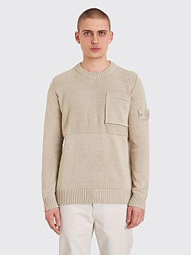 Stone Island Ghost Knitted Sweater Beige