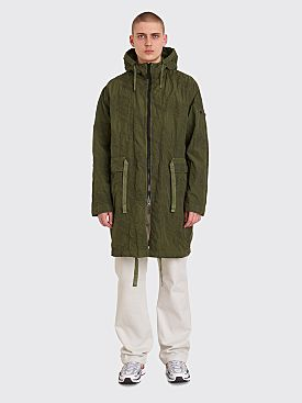 Stone Island Shadow Project Imprint Nylon Parka Jacket Green