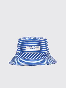 Stone Island Marina Bucket Hat Stripe Blue / White
