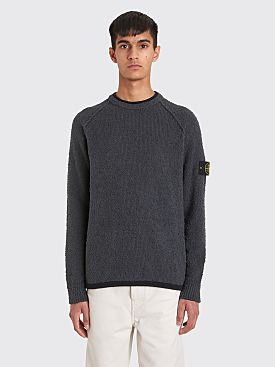 Stone Island Knitted Boucle Sweater Grey