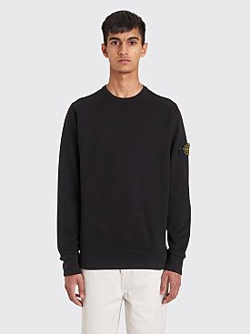 Stone Island Classic GD Cotton Fleece Sweatshirt Black