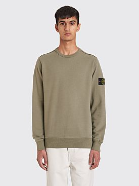 Stone Island Classic GD Cotton Fleece Sweatshirt Mud