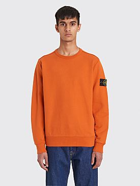 Stone Island Classic GD Cotton Fleece Sweatshirt Orange