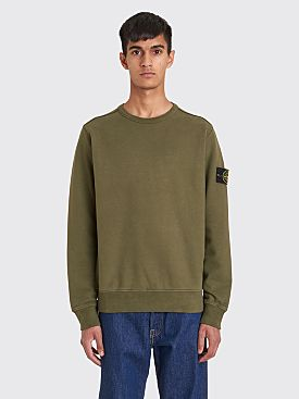 Stone Island Classic GD Cotton Fleece Sweatshirt Olive