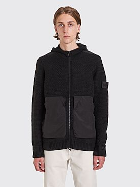 Stone Island Shadow Project Knitted Zip Jacket Black