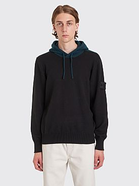 Stone Island Shadow Project Hooded Knit Sweater Black