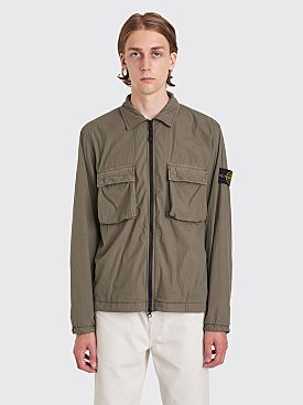 Stone Island Zip Overshirt Double Pockets Mud