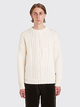 Stone Island Heavy Knitted Logo Sweater Natural White