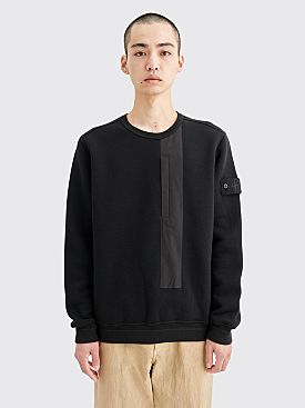Stone Island Ghost Piece Wool Sweatshirt Black