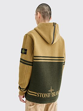 Stone Island Panno Jacquard Anorak Olive Green