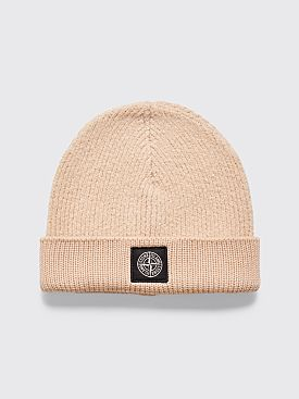 Stone Island Wool Hat Natural Beige