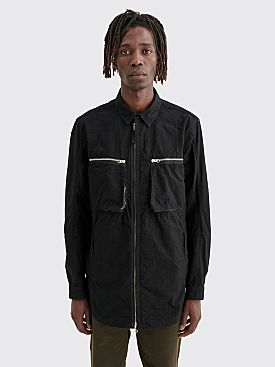 Stone Island Shadow Project Zip Overshirt Naslan Ripstop Black