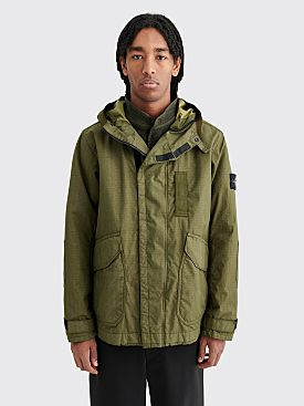 Stone Island Reflective Weave Ripstop TC Jacket With Gilet Olive
