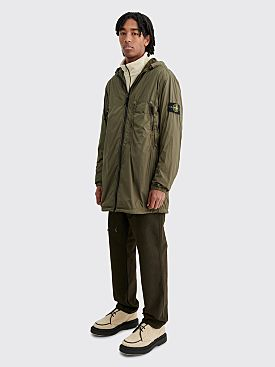 Stone Island GD Crinkle Reps NY Light Overcoat Olive