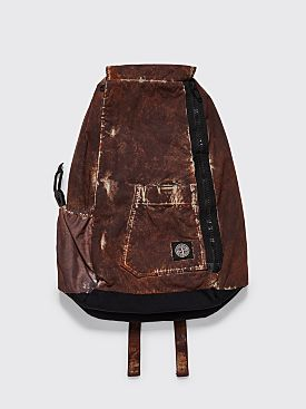 Stone Island Paintball Camo Backpack Dark Brown