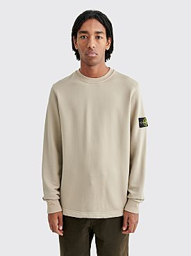 Stone Island Cotton Nylon Crew Neck Sweatshirt Sand