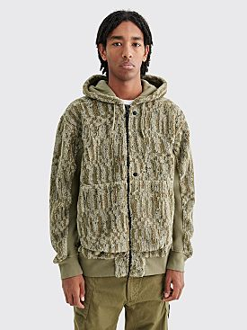 Stone Island Shadow Project Fleece Sweatshirt Military Green