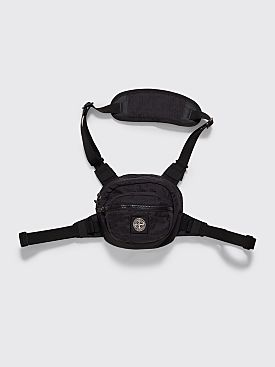 Stone Island Reflective Cross Body Bag Black