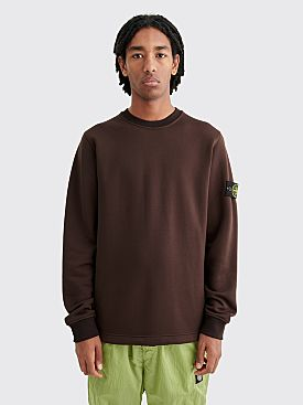 Stone Island Cotton Nylon Crew Neck Sweatshirt Dark Brown
