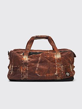 Stone Island Paintball Camo Duffel Bag Dark Brown