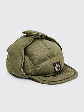 Stone Island Nylon Metal Down Hat Olive