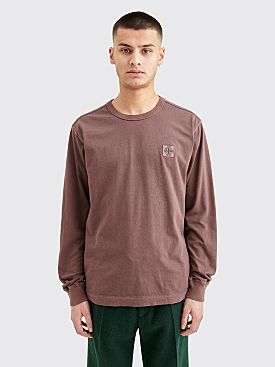 Stone Island GD Patch LS T-shirt Maroon
