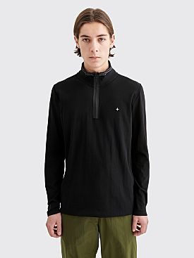 Stone Island Knit Half Zip Sweater Black
