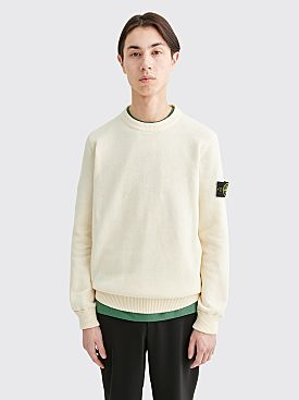 Stone Island Chunky Roundneck Knit Sweater Ivory