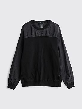 Stone Island Shadow Project Dual Fabric Sweatshirt Black