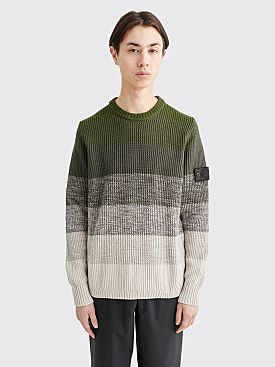 Stone Island Shadow Project Gradient Knit Sweater Olive