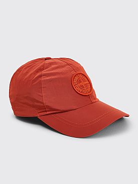 Stone Island Nylon Metal Cap Orange Red