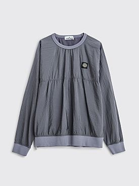 Stone Island Nylon Metal Ripstop Sweatshirt Blue Grey