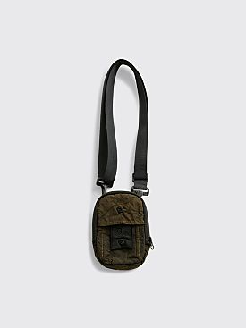 Stone Island Shadow Project Garment Dyed Shoulder Bag Military Green