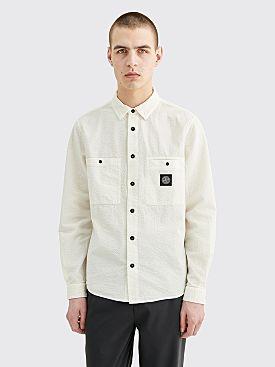 Stone Island LS Seersucker Shirt Ivory
