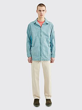 Stone Island Shadow Project Zip Shirt Pearl Grey