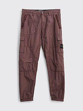 Stone Island Seersucker Nylon Cargo Pants Marrone Mogano