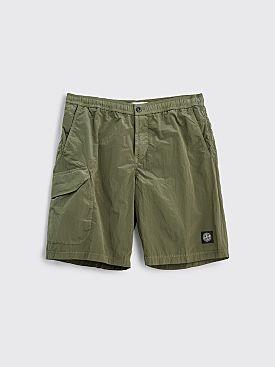 Stone Island Nylon Bermuda Shorts Olive