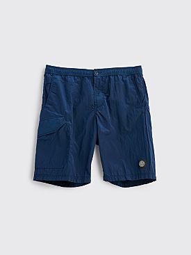 Stone Island Nylon Bermuda Shorts Blue Marine