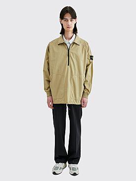 Stone Island GD Half Zip Overshirt Dark Beige