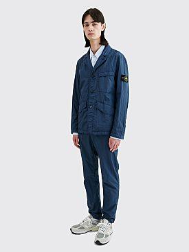 Stone Island Nylon Seersucker Suit Blue Marine