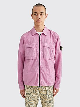 Stone Island GD Nylon Zip Overshirt Rose Quartz