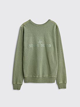 Stone Island Double Front Logo Sweatshirt Olive