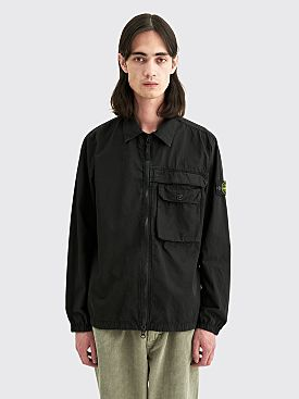 Stone Island GD Cotton Zip Overshirt Black