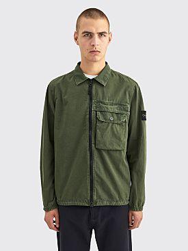 Stone Island GD Cotton Zip Overshirt Musk