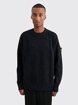 Stone Island Knit Sweater Melange Blue Marine
