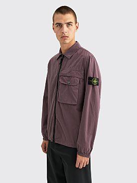 Stone Island GD Cotton Zip Overshirt Magenta