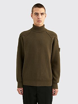 Stone Island Ghost Turtleneck Knit Military Green