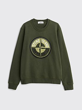 Stone Island 3D Compass Logo Sweatshirt Musk