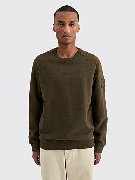 Stone Island Ghost Terry Fleece Sweatshirt Military Green